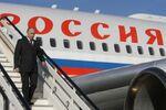 Vladimir Putin arrives on Air Force One plane