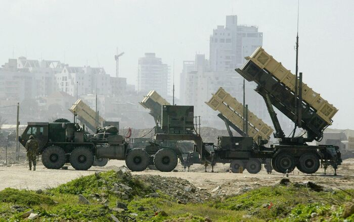 A US Patriot anti-missile battery is set up at a base in Jaffa, south of Tel Aviv, file photo