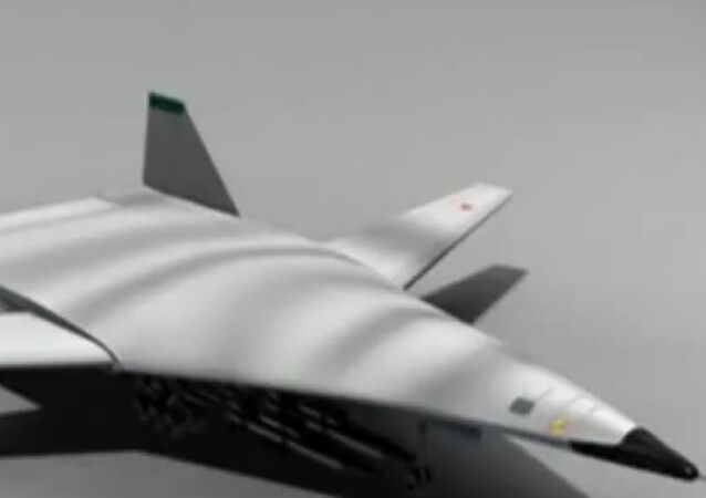 PAK-DA Russian 5th generation bomber concept art