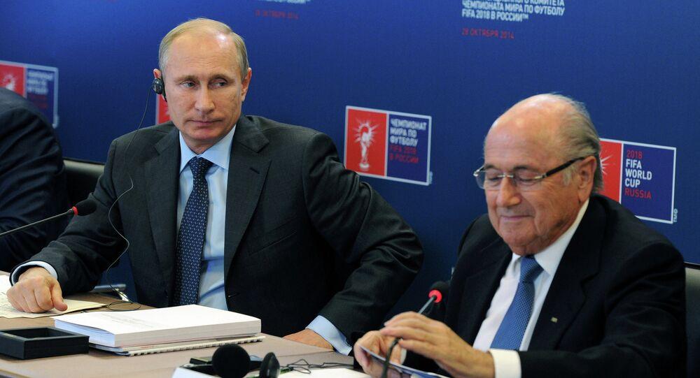 Vladimir Putin inspects progress in Luzhniki Sports Arena reconstruction