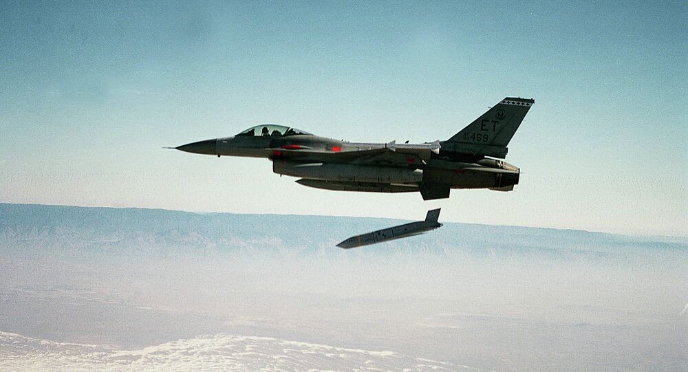 US Air Force file photo shows a Joint Air-to-Surface Standoff Missile (JASSM) fired during testing