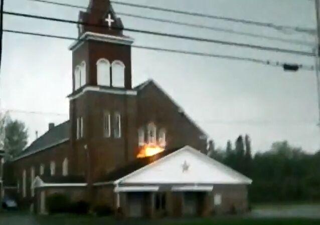 Maine Church Hit By Lightening Strike