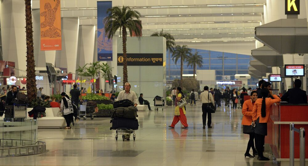 A general view of the departure hall at Terminal 3 of Indira Gandhi International airport in New Delhi