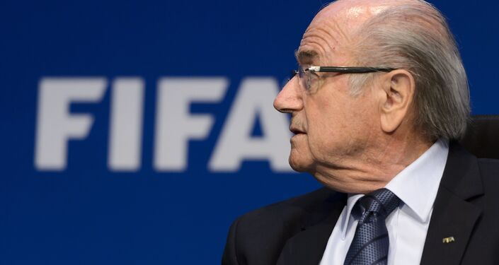 FIFA president Sepp Blatter attends a press conference on May 30, 2015 in Zurich after being re-elected during the FIFA Congress