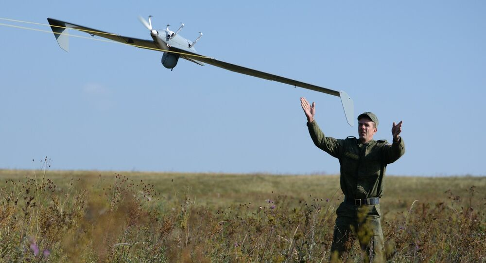 Launch of Zastava UAV during an exercise