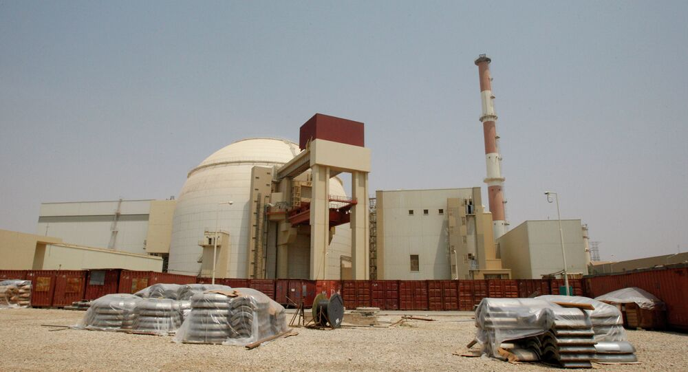 The reactor building of the Bushehr nuclear power plant is seen, outside the southern city of Bushehr, Iran
