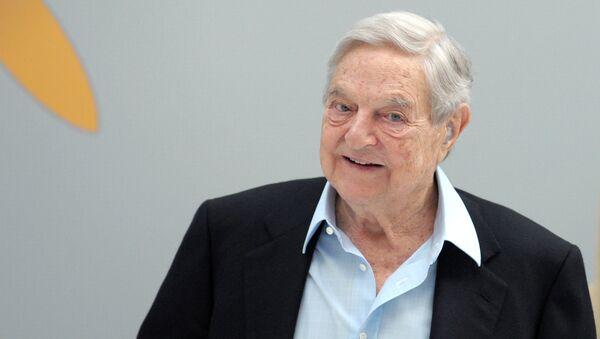 Hungarian-born US chairman of the Soros Fund Management, George Soros - Sputnik International