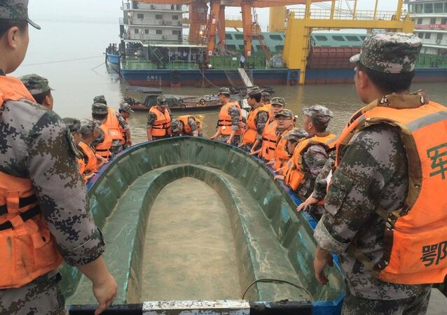 Some passengers still alive inside ship that sank on Yangtze River