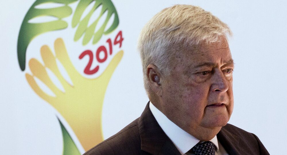 Ricardo Teixeira, president of the local organizing committee for the 2014 World Cup, and head of the Brazilian Soccer Federation