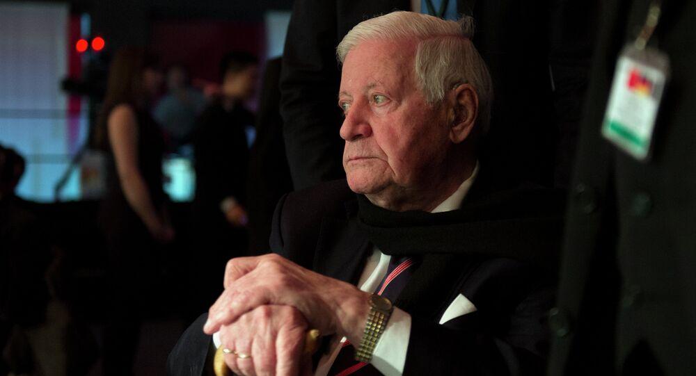 Former German Сhancellor Helmut Schmidt