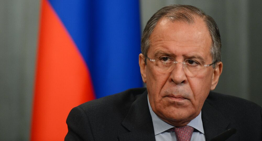 Russian Foreign Minister Servei Lavrov meets with his Italian counterpart Paolo Gentiloni