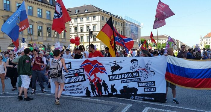 Rally at Anti-G7 Demo in Bavaria