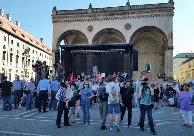 Anti-G7 Demo in Bavaria