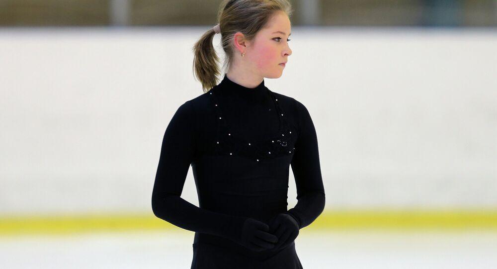 Figure skating. Yulia Linitskaya's training session