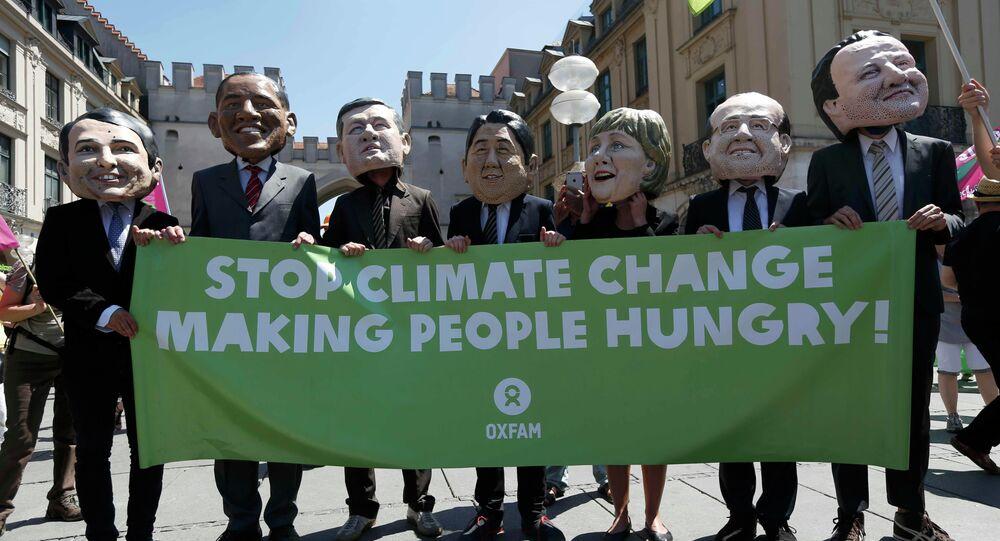 G7 Munich climate change protest