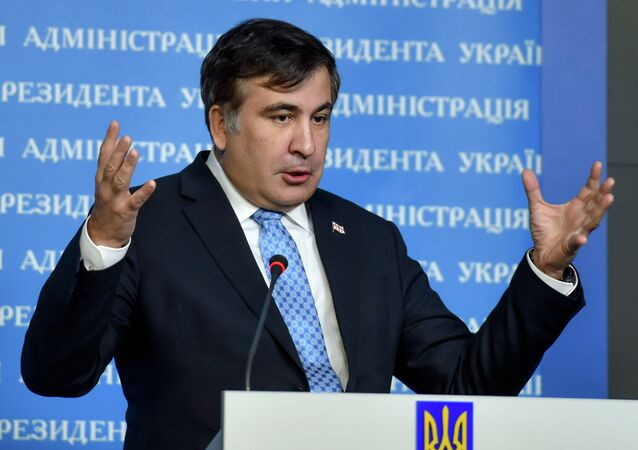 Georgian former President and the Ukrainian President's Aide Mikheil Saakashvili