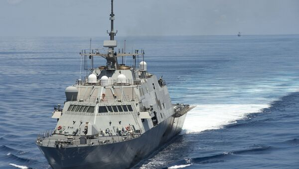 Littoral combat ship USS conducts routine patrols in international waters of the South China Sea - Sputnik International