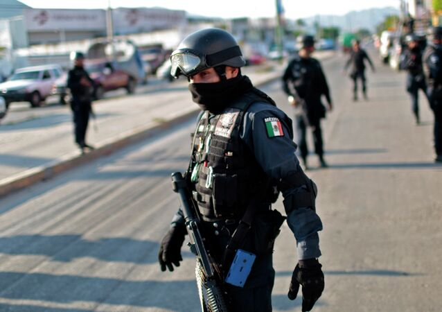 Federal Police Officers in Acapulco, Mexico