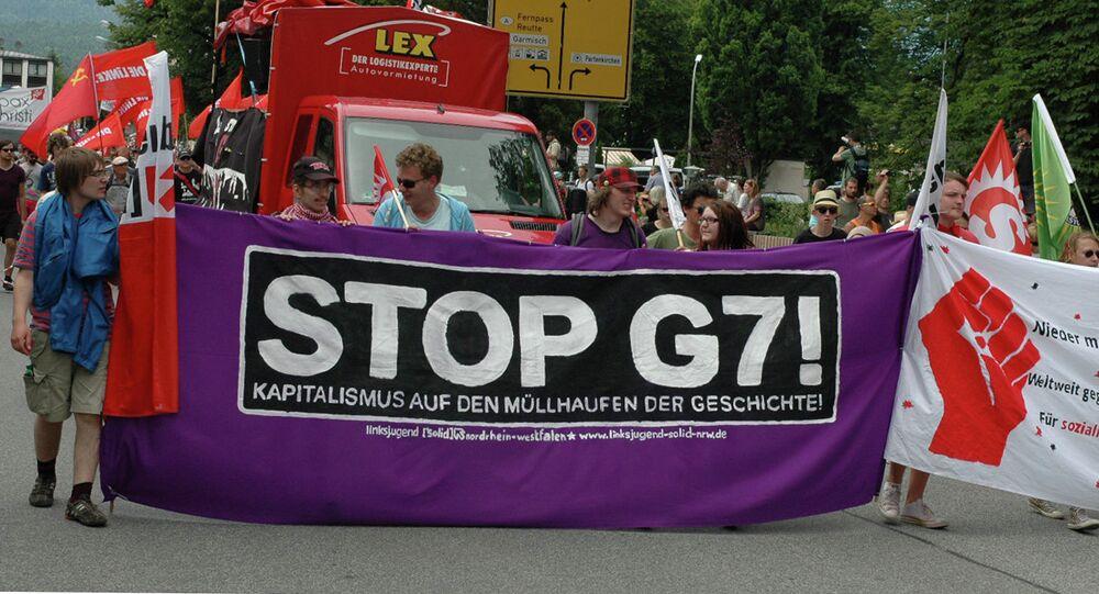 Protests against G7 Summit in Garmisch-Partenkirchen