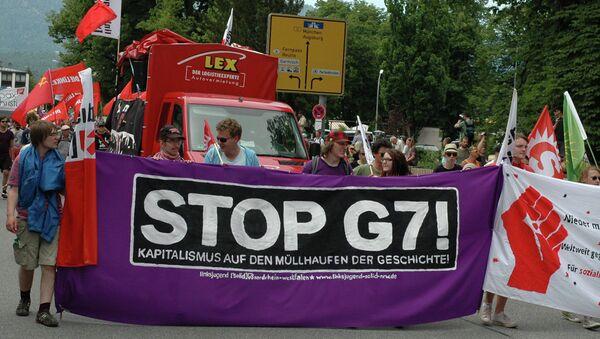 Protests against G7 Summit in Garmisch-Partenkirchen - Sputnik International