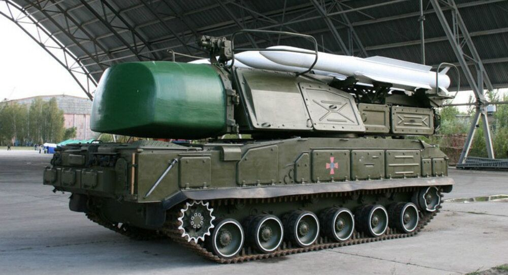 Ukrainian surface-to-air missile system Buk-M1