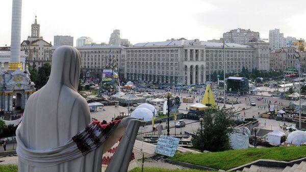 Tent camp on Independence Square in Kiev. File photo - Sputnik International