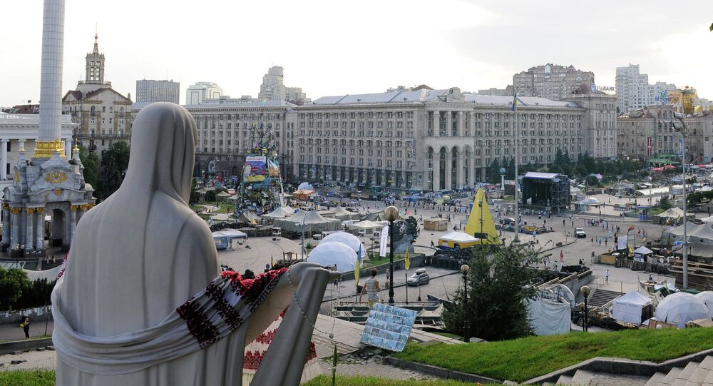 Tent camp on Independence Square in Kiev. File photo