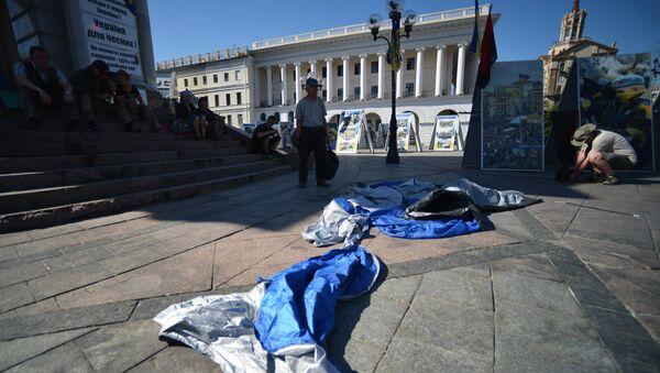 Tent camp in central Kiev demolished - Sputnik International