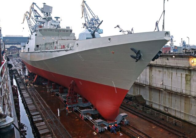 Launch of guard ship 'Admiral Essen' in Kaliningrad