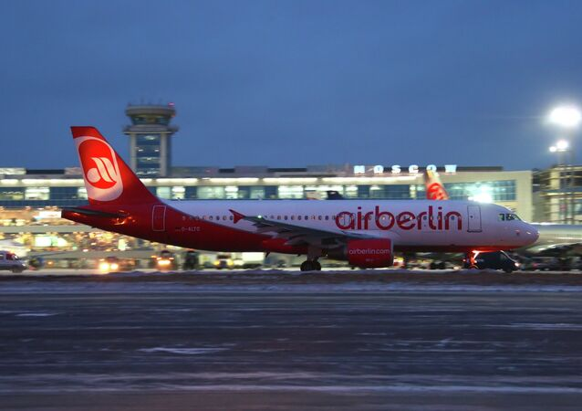 Airbus A-320 of the German Air Berlin airline at Domodedovo Airport
