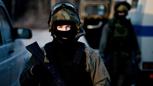Special Rapid Response Unit practice before a mission in Dagestan - Sputnik International