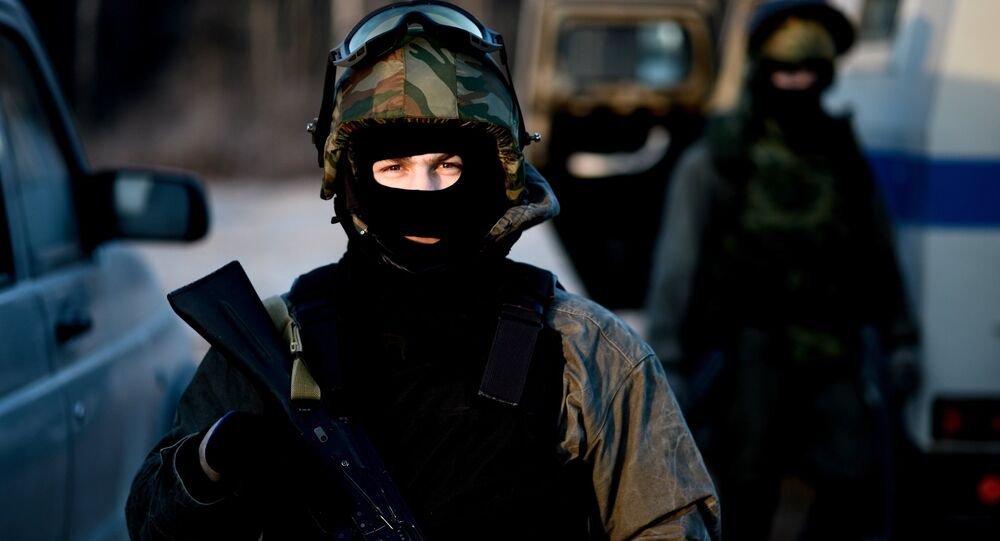 Special Rapid Response Unit practice before a mission in Dagestan