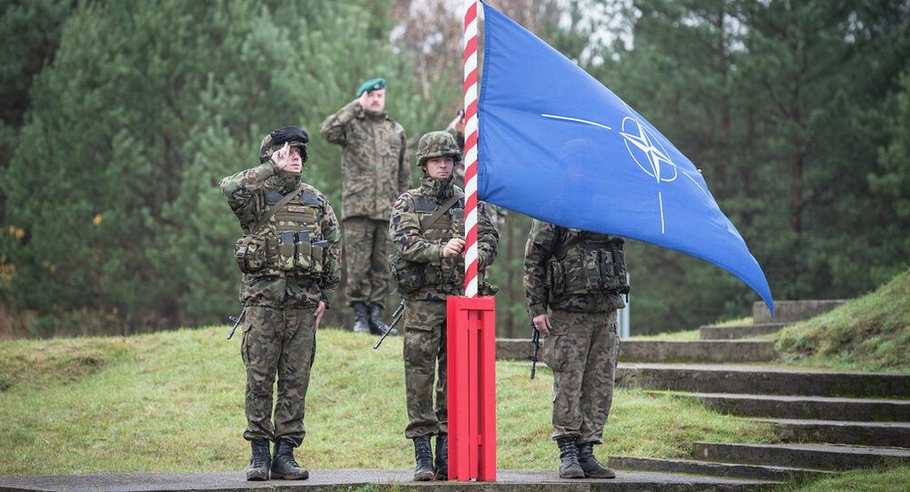 Poland-  NATO flag is raised