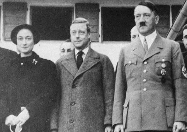 The Duke and Duchess of Windsor, left, are shown as they visited Adolf Hitler at his home in Berchtesgaden, Germany, on their tour of that country, Oct. 1937.