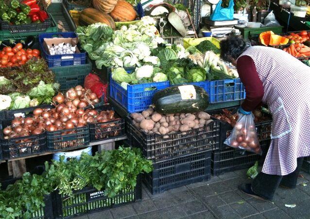 Food market in Spain