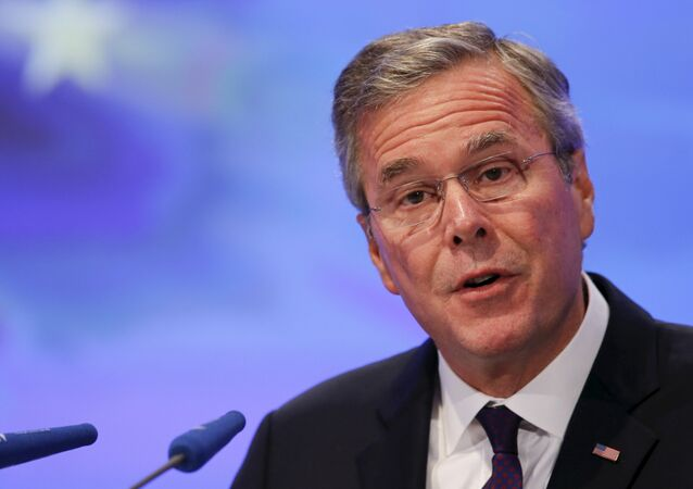 Former Florida Governor and potential Republican presidential candidate Jeb Bush addresses the Christian Democratic Union (CDU) party economic council in Berlin, Germany June 9, 2015