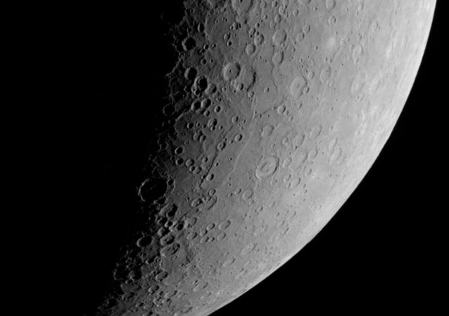 This view of Mercury's southern polar region was captured by NASA's Messenger spacecraft during its mission to orbit the planet for years.