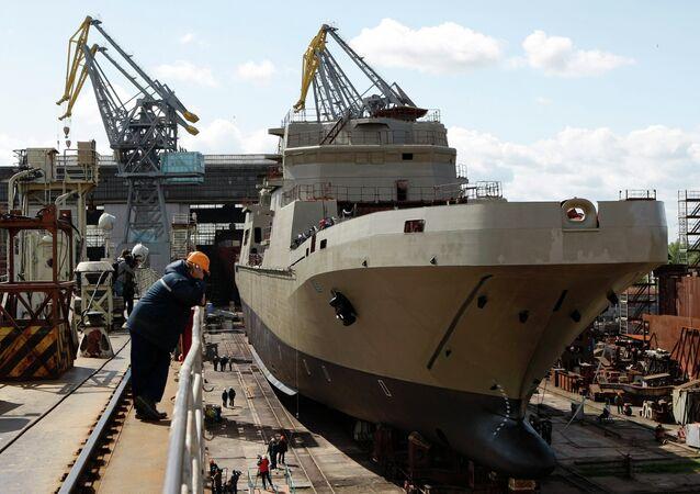 Landing craft Ivan Gren at Yantar Shipyard