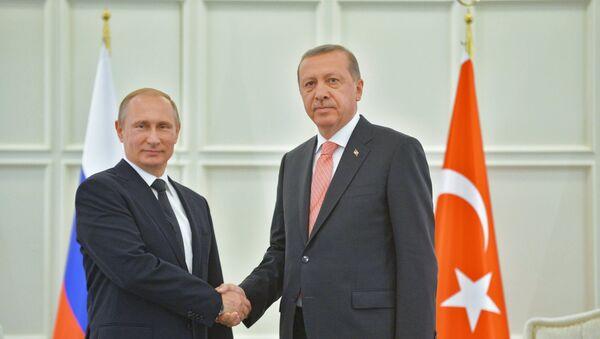 Russian President Vladimir Putin and his Turkish counterpart Recep Tayyip Erdogan - Sputnik International