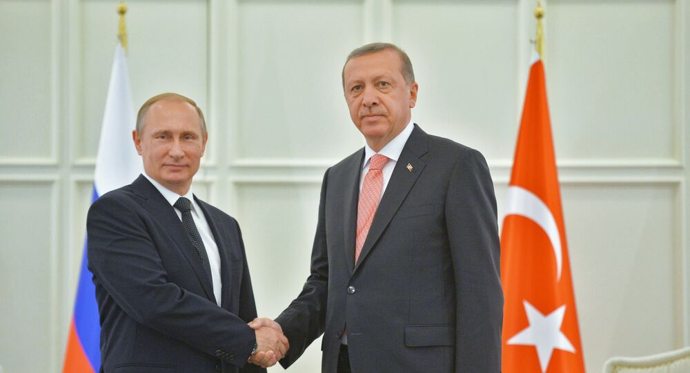 Russian President Vladimir Putin and his Turkish counterpart Recep Tayyip Erdogan