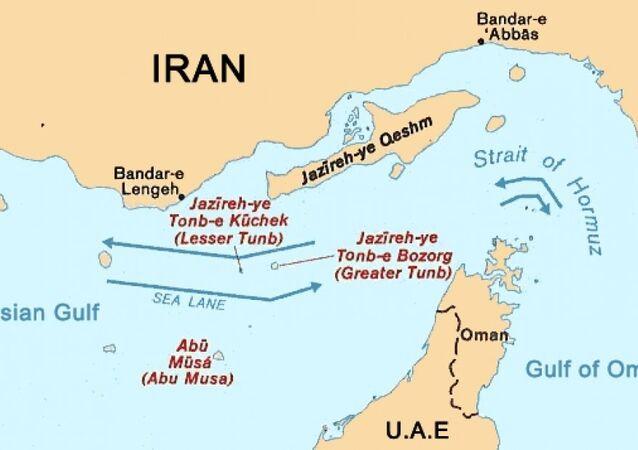 Map of Strait of Hormuz
