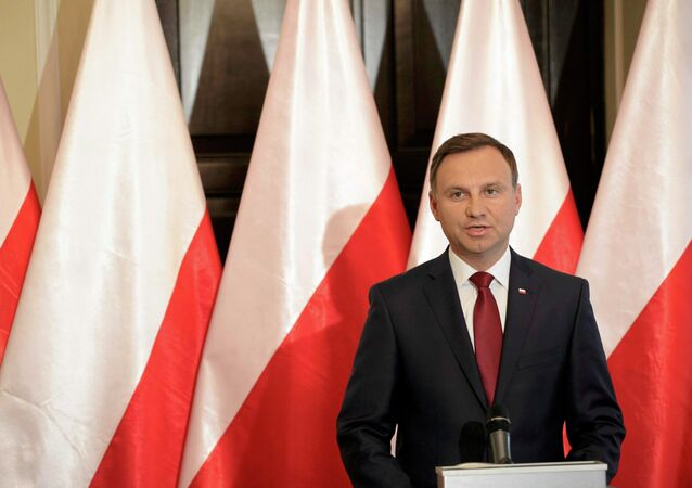 President-elect Andrzej Duda speaks during a press conference in Warsaw, Poland June 11, 2015