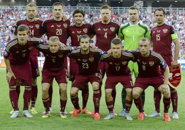 Football. UEFA Euro 2016 qualifier Russia vs. Austria