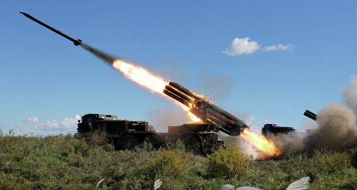 BM-27 Uragan self-propelled multiple rocket launcher system