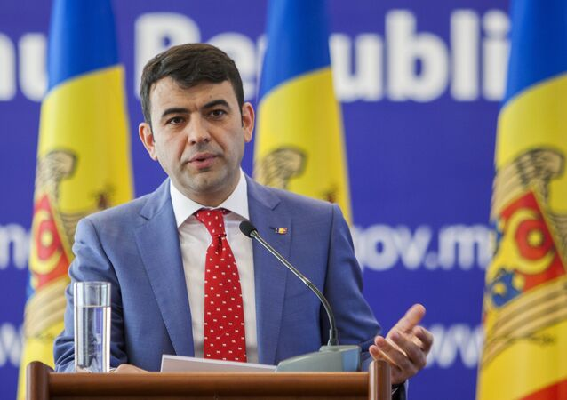 Moldovan Prime Minister Chiril Gaburici talks to reporters at a news conference in Chisinau, Moldova, June 12, 2015