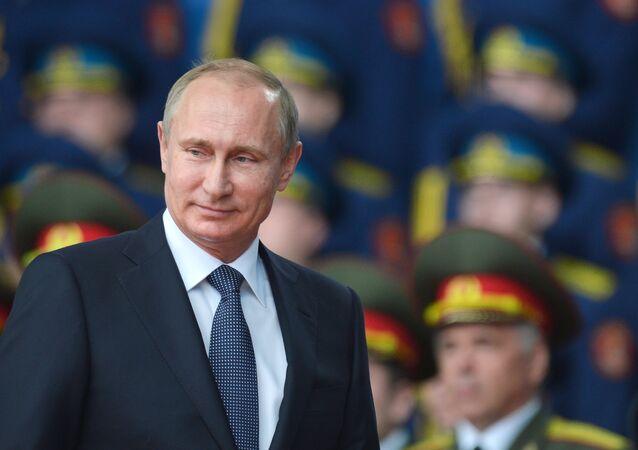 President Vladimir Putin takes part in opening ARMY-2015 international forum