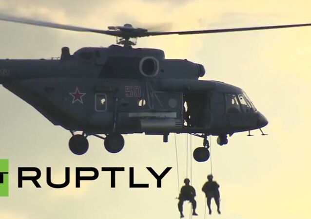 Russia: See the Russian Air Force perform drills at Army-2015 expo