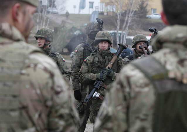 Polish troops take part in joint military exercise in Swietoszow, Poland, on Friday Nov. 21, 2014