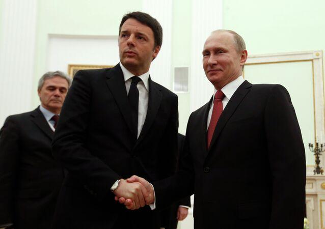 Putin, Renzi meeting