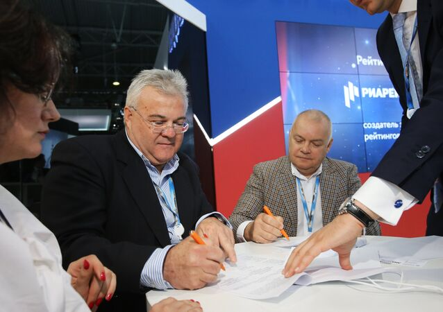 Ceremony of signing of the agreement between IIA Russia Today and ANA-MPA agency